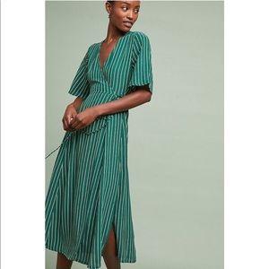 Faithfull the Brand Paseo Rich Green Wrap Dress